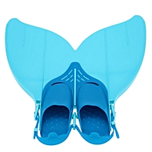 NEW Teen Teenager Foot Swimming Fins Flippers Swim Fin Swimming Foot Flipper Diving Monofin Mermaid Tail Blue