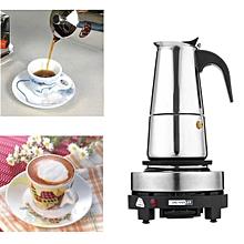 Espresso Moka Coffee Maker Pot Percolator Stainless Steel Electric Stove