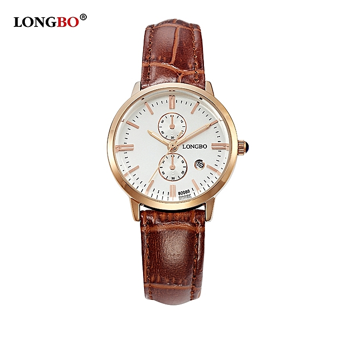 b49afcc331 Womens Luxury Brown Leather Band Couple Watch Casual Business Dress Watches  Grey Dial Gold Case Analog