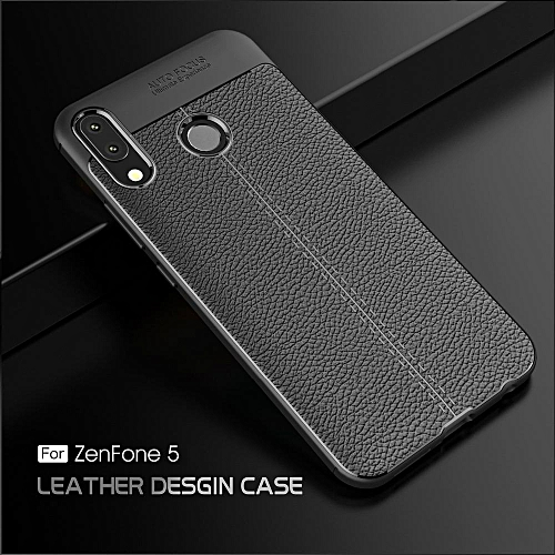 promo code b7f68 d68f4 For Asus Zenfone 5 Case Soft Cover Protective Casing For Zenfone 5 ZE620KL  Leather Cover (Black)