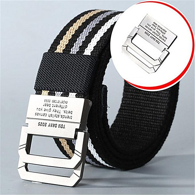 e234ca6d76695f Men Colorful Weaving Plate Buckle Belt Waist Strap Outdoor Slider Buckle  Belts