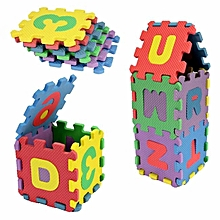 72 pcs Baby Kids Mini EVA Foam Alphabet Letters Number Mat 3D Puzzles Educational Toys