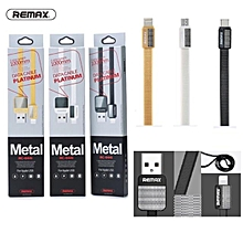 Remax Metal Platinum RC-044 Micro Flattened Usb Cable Data DIOKKC