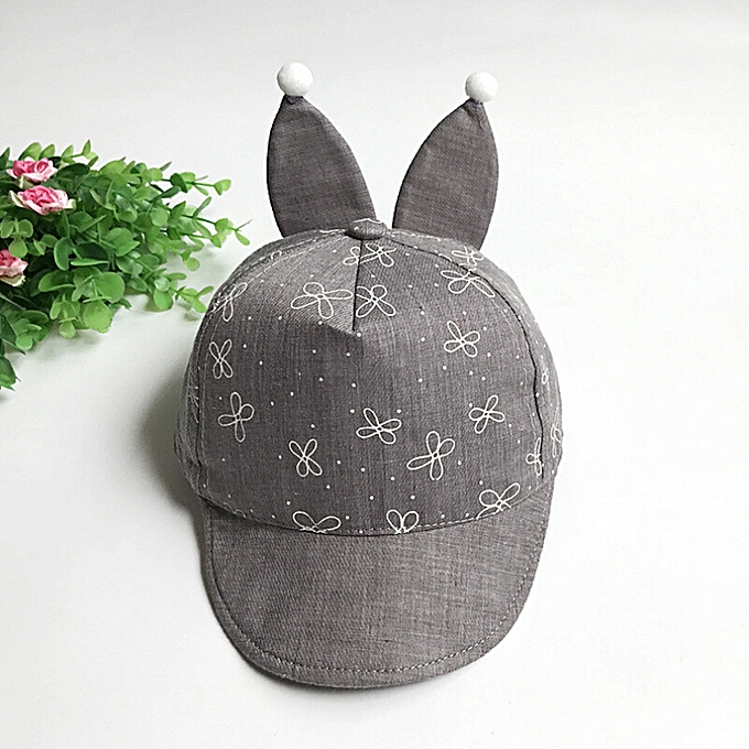 13a488d88 Braveayong Rabbit Ears Baby Unisex Girls Boys Baseball Caps Summer Hat  Newborn Hats Caps GY -Gray