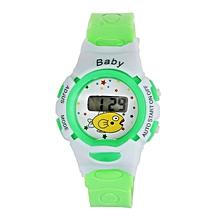 Boys Girls Students Time Electronic Digital Wrist Sport Watch Green