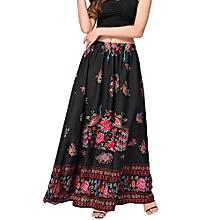 dc7c6ae465 Xiuxingzi_Women Boho Maxi Skirt Beach Floral Holiday Summer High Waist Long  Skirt