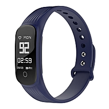 Bluetooth Continuous HR monitor Splash-proof Calories burned IP67 Water Resistant Smartband for Android iOS - Blue