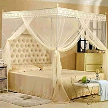 Straight Mosquito Net With  metalic stands- cream