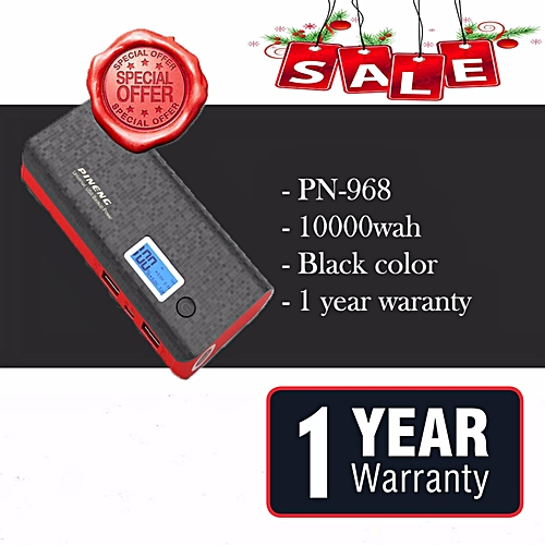 Hot Deal For Pineng PN-968 10000mAh Power Bank (Black) BGmall