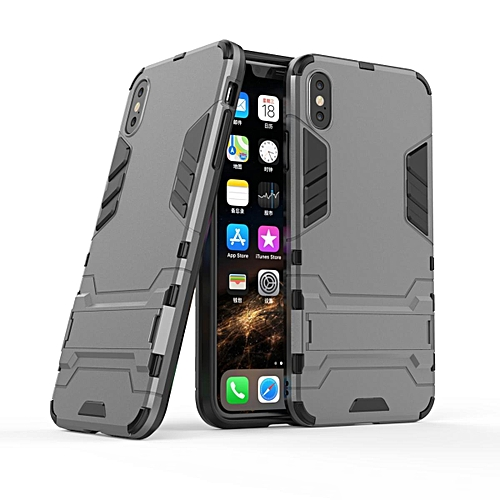 the best attitude c7dd3 82cac For IPhone XR Case, Iron Man Armor NEW [Heavy Duty] Premium Tactical Grip  Kickstand Shockproof Bumper [Military Defender] Full Body Rugged Cover For  ...
