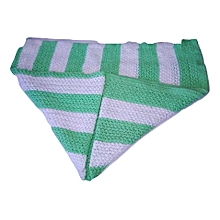 Baby Shawl White Green multicolored