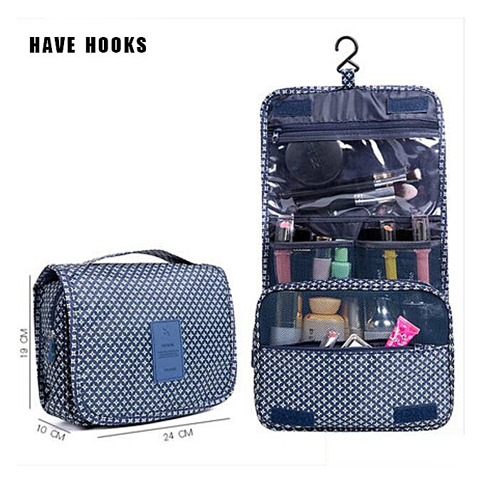 1d322062af13 Zipper Women Makeup bag nylon Cosmetic bag beauty Case Make Up Organizer  Toiletry bag kits Travel Wash pouch(blue star)