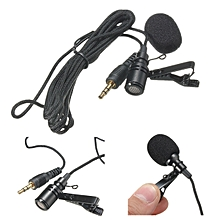 3.5mm Lavalier LapelTie Clip ON Microphone Omnidirectional For Phone Computer