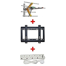 "Digital Aerial + 14""-42"" TV wall bracket  Free 4 way extension socket"