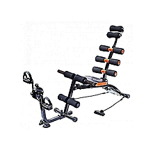 Six pack care machine with pedals