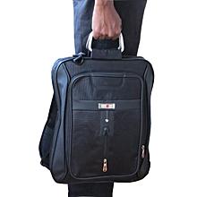 "Laptop Computer Bag 3-in-1 Slim Style 17"" Large - Black"