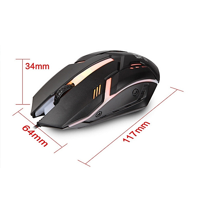 Zornwee Revival Ergonomic Design Backlit Wired Gaming Mouse .