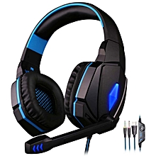 KOTION EACH G4000 Computer Stereo Gaming Headphones Deep Bass Game Earphone Headset with Mic LED Light for PC Gamer