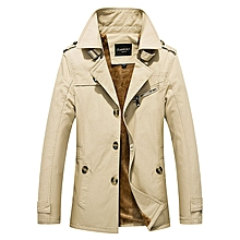 Thick Warm Slim Stylish Mid Long Fall Winter Trench Coats for Men