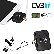 DVB-T2 Mini Micro USB Tuner TV Receiver + Antenna For Android Smartphone Tablet