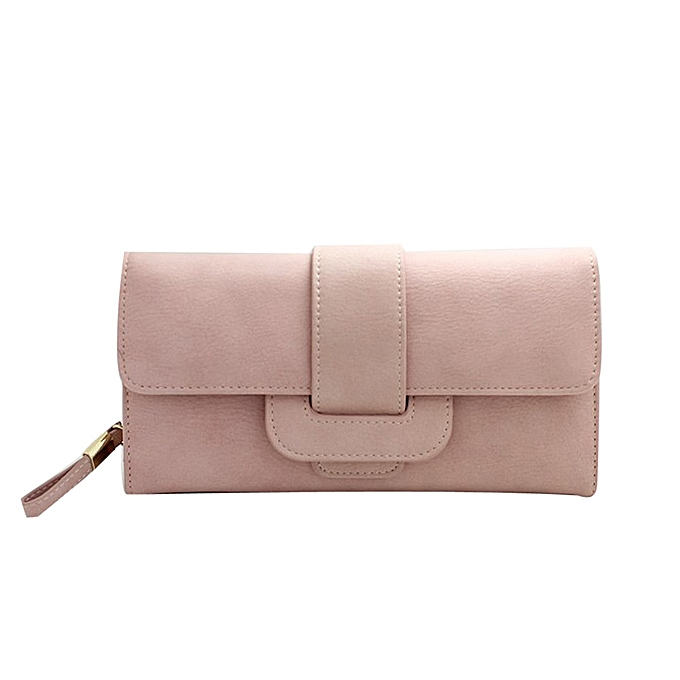 Singedan Lady Women Bifold Purse Clutch Wallet Small Bag Card Holder Quality Handbag Pink
