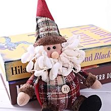 QWERT Christmas Gift Santa Claus Snowman Ornament Festival Party Table Decor Doll-Multicolor