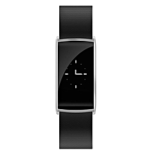N108 0.96Inch OLED Smart Wristband with Tempering Glass Screen Fitness Tracker silvery