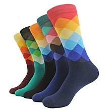 Set of 5 Pairs of Happy Socks Men Socks - Multicolored