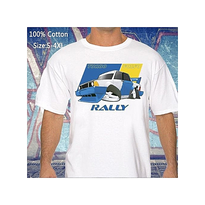 Funny Volvo 240 Turbo Rally Printed Men T Shirts Casual Funny Tops S To 4xl Racing Drifting Wrc