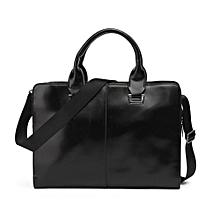 Fashion Men's Business Bag Briefcase Messenger Shoulder Bags Tote Bag  Black