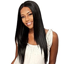 European and American black ladies fashion long straight hair wigs-black