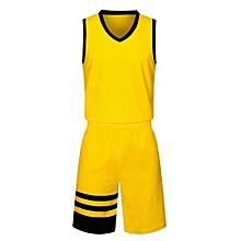 Children And Adults Son And Father Brand Customized Basketball Team Training Sports Jersey-Yellow