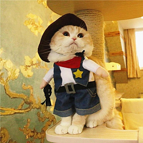 pet dog cat halloween costume funny cute dress up suit christmas party clothes cowboy m