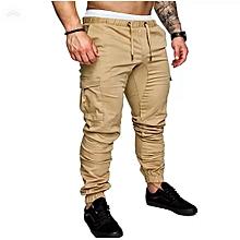 Beige Men's Cargo Pant-Stylish Pocketed