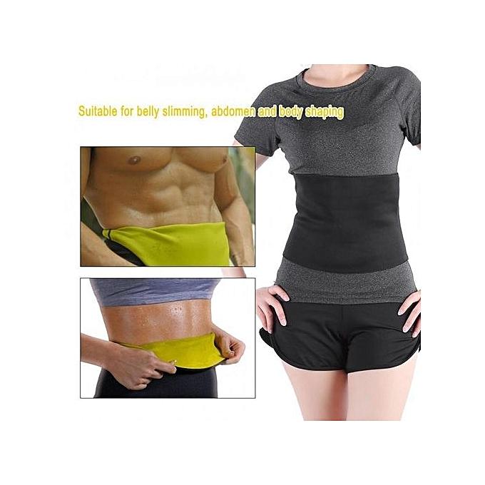 Women Men Tummy Belly Slimming Waist Training Abdomen Belt Body Shaper(M)