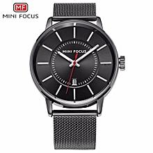 MINIFOCUS 2017 New Top Fashion Brand Mens Watches Luxury Casual Quartz Watch Stainless Steel Mesh Strap Clock Relogio Masculino 0034