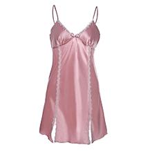 928554bfb838 High end Sexy Lingerie Women Sleepwear Satin Lace Chemise Nightwear  Sleepskirt