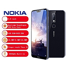 Nokia X6 4G Phablet 5.8 inch Android 8.1 (4GB+64GB)-DEEP BLUE