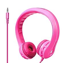 Flexure- Pink Flexible Lightweight Kids-safe On-Ear Foam Headset