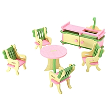 Baby Wooden Furniture Dolls House Miniature for Kids Child Pretend Play Toys#the kitchen 1