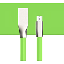 1M Micro USB Charger Sync Data Cable Cord for Cell Phone-Green