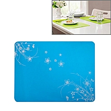 40x30cm Anti-skidding Silicone Heat Insulation Mat for Food Dish / Beverage / Oven / Kid Table(Blue)
