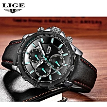 LIGE Sports Men Watches Top Famous Brand Male Wristwatch Stainless Steel Band Quartz Clock Calendar Relogio Masculino Hodinky 9833