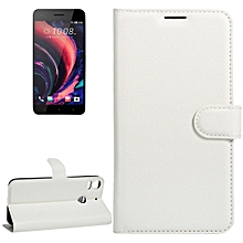For HTC Desire 10 pro Litchi Texture Horizontal Flip Leather Case with Holder and Card Slots and Wallet(White)