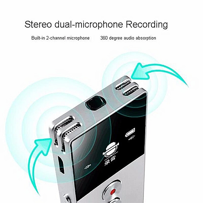 C6 8GB Mini Flash Digital Voice Recorder Dictaphone MP3 Music Player  Gravador de voz Support TF Card Built-in Loudspeaker KSIWN