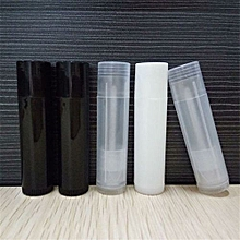 10pcs Empty Lip Balm Tubes Containers White Lipstick Sample DIY-White