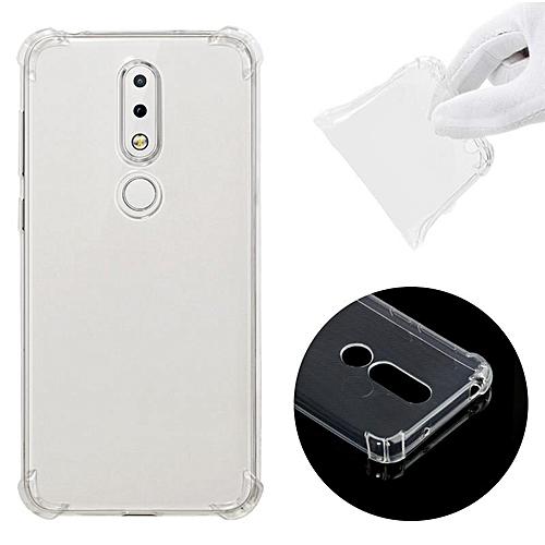 info for 23e38 9141d Soft TPU Transparent Back Cover Case for Nokia X6 / Nokia 6.1 Plus