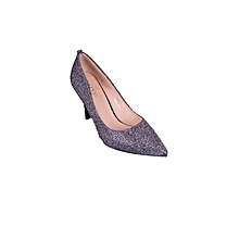 Silver Ladies Pointed Toes Heel