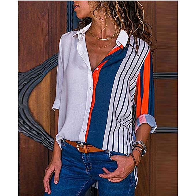 49c5eb0532e991 Women Blouses Fashion Office Shirt Chiffon Blouse Shirt Casual Tops Plus  Size Blusas Femininas Women Tops