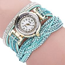 CCQ Women Fashion Casual Analog Quartz Women Rhinestone Watch Bracelet Watch GN